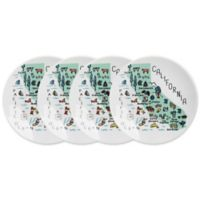 My Place Ohio Appetizer Plates (Set of 4)