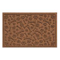 Weather Guard™ Paws & Bones 24-Inch x 36-Inch Entry Mat in Dark Brown