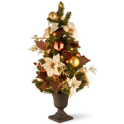 Marvelous National Tree Company 3 Ft. Inspired By Nature Entrance Tree W/Clear Lights