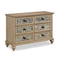 Home Styles Visions 6-Drawer Dresser in Silver