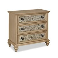 Home Styles Visions 3-Drawer Chest in Silver