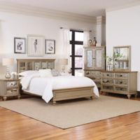 Home Styles Visions 5-Piece King Bedroom Set in Silver