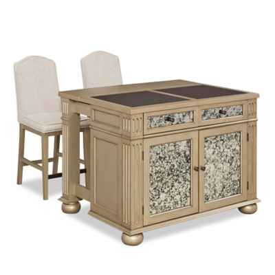 Vision Granite Top Kitchen Island and Stools