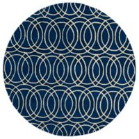 Kaleen Tara Concentric 3-Foot 9-Inch Round Rug in Navy