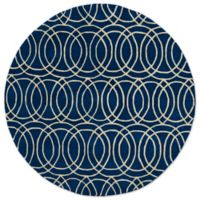Kaleen Tara Concentric 5-Foot 9-Inch Round Rug in Navy