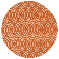 Kaleen Tara Concentric 9-Foot 9-Inch Round Rug in Orange