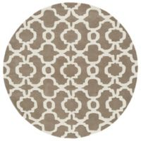 Kaleen Tara Malta 3-Foot Round Accent Rug in Light Brown