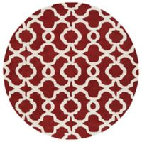 Kaleen Tara Malta 7-Foot 9-Inch Round Rug in Red