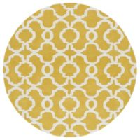 Kaleen Tara Malta 9-Foot 9-Inch Round Area Rug in Yellow