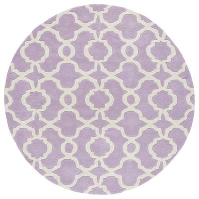 kaleen tara malta 9foot 9inch round rug in lilac