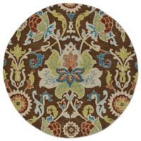 Kaleen Tara Taj 5-Foot 9-Inch Round Rug in Chocolate
