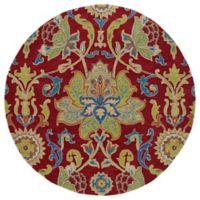 Kaleen Tara Taj 9-Foot 9-Inch Round Area Rug in Red