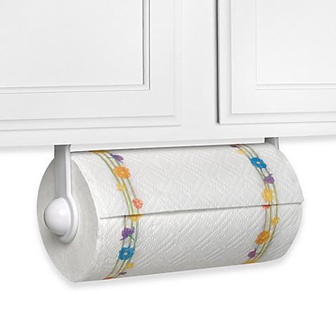white paper towel holder with mount bed bath beyond. Black Bedroom Furniture Sets. Home Design Ideas