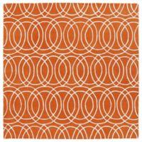 Kaleen Tara Concentric 3-Foot 9-Inch x 3-Foot 9-Inch Square Rug in Orange