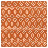Kaleen Tara Concentric 3-Foot 9-Inch x 3-Foot 9-Inch Square Rug in Orange