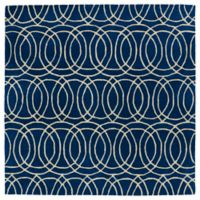 Kaleen Tara Concentric 3-Foot 9-Inch x 3-Foot 9-Inch Square Rug in Navy