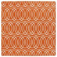 Kaleen Tara Concentric 5-Foot 9-Inch x 5-Foot 9-Inch Square Rug in Orange