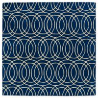 Kaleen Tara Concentric 5-Foot 9-Inch x 5-Foot 9-Inch Square Rug in Navy