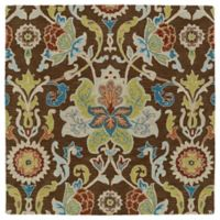 Kaleen Tara Taj 3-Foot 9-Inch Square Accent Rug in Chocolate