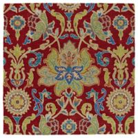 Kaleen Tara Taj 3-Foot 9-Inch Square Accent Rug in Red