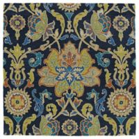 Kaleen Tara Taj Square 3-Foot 9-Inch Accent Rug in Navy