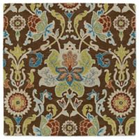 Kaleen Tara Taj 5-Foot 9-Inch Square Area Rug in Chocolate
