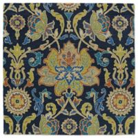Kaleen Tara Taj 5-Foot 9-Inch Square Area Rug in Navy