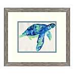 Blue Sea Turtle 17-Inch x 15-Inch Framed Wall Art