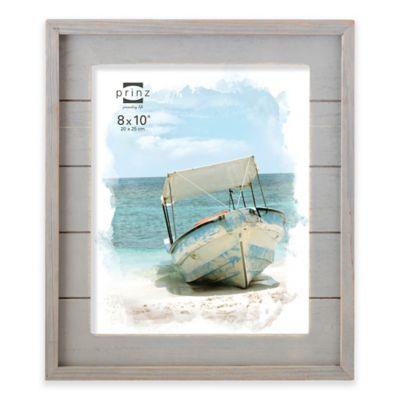 prinz coastal 8 inch x 10 inch wood plank picture frame in grey - Driftwood Frame