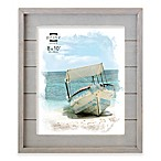Prinz Coastal 8-Inch x 10-Inch Wood Plank Picture Frame in Grey