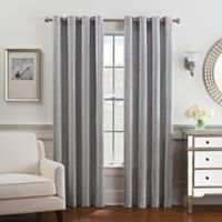 Antonia 95-Inch Grommet Top Window Curtain Panel in Grey