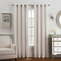 Coco 95-Inch Grommet Top Window Curtain Panel in Grey/Silver