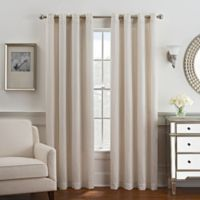 Coco 95-Inch Grommet Top Window Curtain Panel in Ivory/Gold