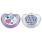 Nuk 6-18 Months Nuk Airflow Orthodontic Pacifier 6-18 Months 2pk Purple/blue