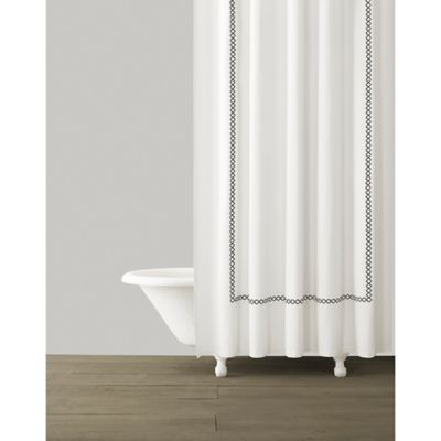 Kassatex Tivoli Shower Curtain in White Black Buy and Bathroom from Bed Bath  Beyond