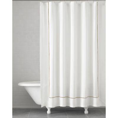 Superb Kassatex Verona Shower Curtain In Taupe