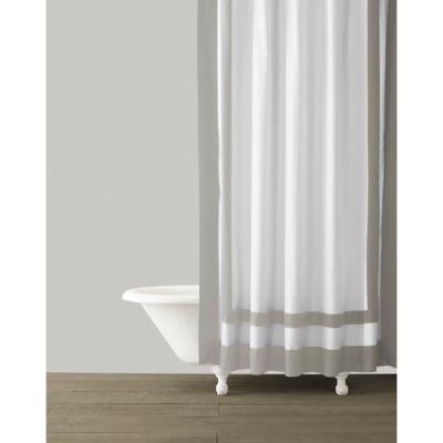 kassatex edge frame shower curtain in silver