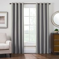 Antique Satin 84-Inch Room-Darkening Grommet Top Window Curtain Panel in Grey