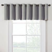 Antique Satin Room-Darkening Grommet Top Window Valance in Grey