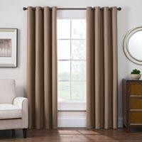 Antique Satin 63-Inch Room-Darkening Grommet Top Window Curtain Panel in Linen