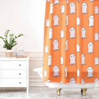 DENY Designs Allyson Johnson Ghosts Shower Curtain in Orange