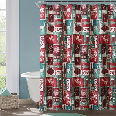 Buy Christmas Shower Curtain Set from Bed Bath & Beyond