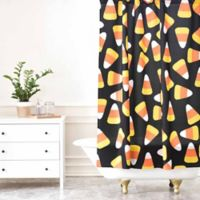 DENY Designs Lisa Argyropoulos Candy Corn Jumble Shower Curtain in Black