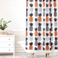 DENY Designs Zoe Wodarz Pineapple Pumpkin Shower Curtain