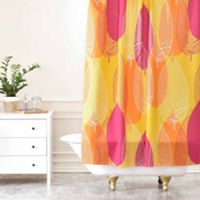 DENY Designs Aimee St. Hill Big Leaves Shower Curtain in Yellow