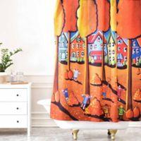 DENY Designs Renie Britenbucher Kids Raking Leaves Shower Curtain