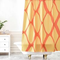 DENY Designs Allyson Johnson Fall Love Shower Curtain in Yellow