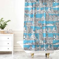 DENY Designs Sharon Turner San Francisco Shower Curtain in Teal