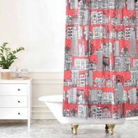 DENY Designs Sharon Turner New York Shower Curtain in Coral