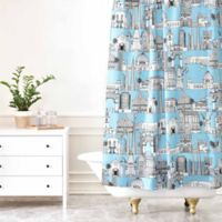 DENY Designs Sharon Turner Los Angeles Shower Curtain in Blue